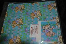 Vtg 80's CUDDLY KOALA  Paper Gift Wrap All Occassion CURRENT w/Gift Card  NIP