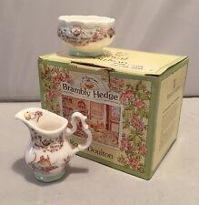 Vintage Royal Doulton Brambly Hedge Miniature Cream Jug & Sugar Bowl Tea Service