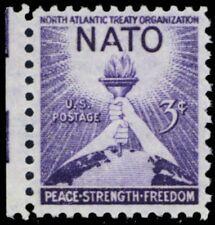 1008, MNH NATO Stamp Printed on Very Thin Paper ERROR - Stuart Katz