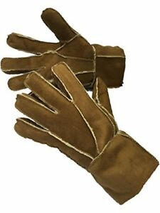 Mens Luxury 100% Sheepskin Quality Leather Winter Warm and Cosy Gloves