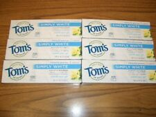 Tom's of Maine  Simply White Toothpaste, Sweet Mint Gel, 6 tubes, 4.7oz ea 4/21