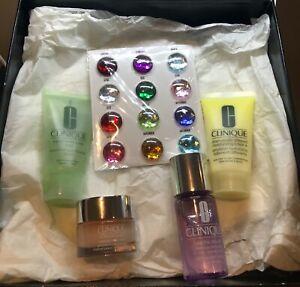 Clinique Set lotion makeup remover moisture surge facial soap stickers NEW