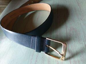 "Pierre Cardin Belt vera pelle Made in Italy Size 34"" Color Dark Bleu"