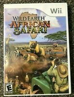 Wild Earth: African Safari - Nintendo Wii - Clean and Tested  - Tested Working