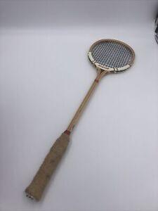 "Vintage Dunlop Maxply Fort Wooden Squash Racquet International Model England 27"""