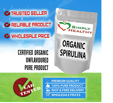 SPIRULINA ALGAE POWDER ORGANIC CERTIFIED 100g BEST AVAILABLE QUALITY -WITH TRACK