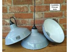 "12"" Grey Benjamin Vintage 50's Enamel Pendant Lamp/Lights REWIRED 3 available"