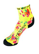Steigen Spring Floral Half Length Performance Running and Cycling Socks