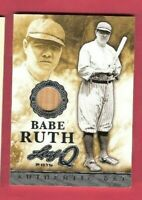 BABE RUTH GAME USED BAT CARD 2015 LEAF Q NEW YORK YANKEES HALL OF FAME JERSEY #3