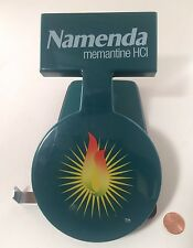 Namenda Pharma Drug Rep Green Two Hole Punch Office Desk Vintage - NICE RARE