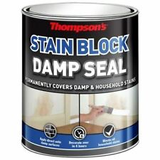 Thompsons 250ml White Stain Blocking Damp Seal Paint Covers & Prevents Stains