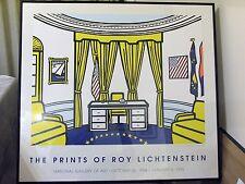ROY LICHTENSTEIN ORIGINAL SERIGRAPH OVAL OFFICE NATIONAL GALLERY OF ART 1994