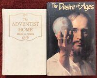 Ellen G White Duo: Adventist Home ~ Desire of Ages HB Seventh-day Adventist EGW