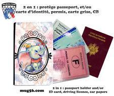 dumbo disney 001 protège porte carte grise permis passeport passport holder