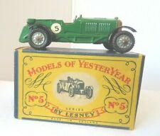 Models of Yesteryear Lesney  Y5-2 1929  4 1/2 litre Bentley  vgc