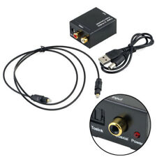 Optical 3.5mm Coaxial Digital to Analog Audio Adapter Converter RCA L/R Pro