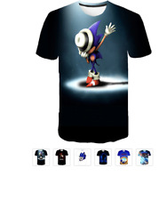 SONIC the Hedgehog and SHADOW  3D Graphic T Shirt NEW STYLES boys sizes 2-12