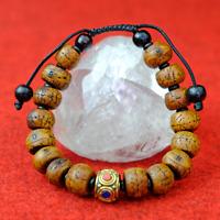 Buddha Armband Braun buddhistisch Yak Naturprodukt handgeschnitzt s33
