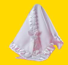 Wunderschöne Taufdecke Babydecke Taufe Decke weiss NEU