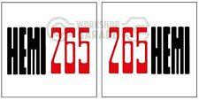 HEMI CHRYSLER VALIANT - Badge Style Stickers - HEMI 265 BONNET standard  #9