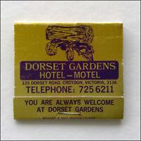 Dorset Gardens Hotel Motel Croydon 7256211 Matchbook (MK38)
