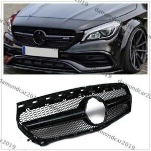 Grille Grill for W117 CLA250 CLA45 2014 2015 2016   Style Black DNN