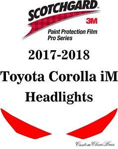 3M Scotchgard Paint Protection Film Pro Series Clear 2017 2018 Toyota Corolla iM