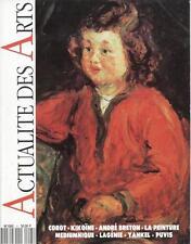 Actualités Des Arts  N°5   5 juin 1991:Corot Kikoine Breton Lagénie Yankel Puvis
