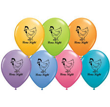 """HENS NIGHT PARTY SUPPLIES 10 x 11"""" QUALATEX HENS NIGHT ASSORTED COLOUR BALLOONS"""