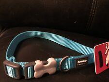 Red Dingo Plain Turquoise Premium Dog/Puppy Collar Small BNWT