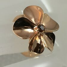 Gorgeous - Cognac Zircon 0.24 carats Rose Gold Plated 925 Sterling Silver Ring