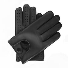 MENS DRIVING GLOVES TOP QUALITY SOFT GENUINE REAL LEATHER - BLACK