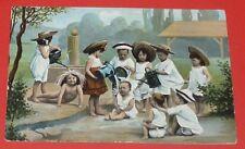 CPA CARTE POSTALE POSTKARTE POSTCARD 1905 ENFANTS QUI S'ARROSENT