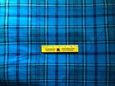BLUE  PLAID   Cotton  FLANNEL Fabric   $4.50  Yard