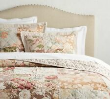 Pottery Barn Carolina Floral Patchwork Quilt King NEW