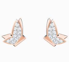 Swarovski Lilia Fig Pierced Earrings, White, Rose gold plating 5382367