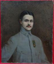 Portrait d'Homme Soldat de la guerre 14-18 Ecole Française du XXème siècle HST