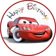 Cars Deco Gateau Disque Azyme Comestible Happy Birthday Anniversaire 20cm