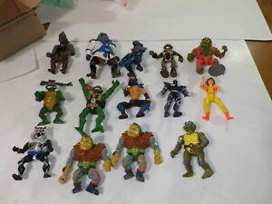 Lot Of 14 TMNT Teenage Mutant Ninja Turtles Action Figures 1988-1995 Mirage