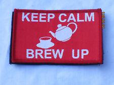 KEEP CALM - BREW UP,Unit ID Morale Patch,Klett Rückseite ,Abzeichen, rot