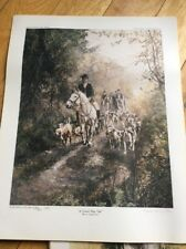 SIGNED LIMITED EDITION HUNTING SCENE PRINT