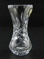 Vintage Waterford Crystal Bud Posy Vase Seahorse Mark Cut Rim Criss Cross Glass