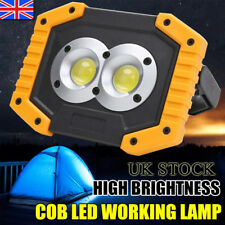 LED COB Work Light USB Rechargeable Spotlights Lamp Searchlight Camping Lamp UK