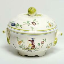LONGCHAMPS FRENCH FAIENCE COVERED FLORAL TUREEN