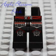 NEW Lego Castle BLACK MINIFIG LEGS Ninjago Knight Red Silver Knee Armor Pockets