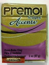 M00607 MOREZMORE Premo Accents Sculpey ANTIQUE GOLD 2 oz Polymer Clay A60