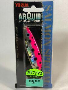 58590) YO-ZURI ARQUID Karafutomasu Salmon Special Spoon 18g #M139