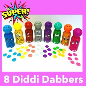 Bingo Dabbers 8 Pack Diddi Dabbers Lockdown Bingo Kids Bingo kids Toy 8 DIDDI