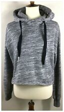 Abercrombie & Fitch Women's Cropped Hoodie Sweatshirt Size XS Black Gray