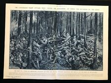 WW1 1915 2-Page Newspaper Illustration THE CANADIANS' NIGHT ATTACK AT YPRES